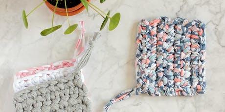Atelier tawashi (éponge lavable zéro déchet) au crochet billets