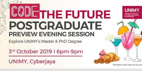 UNIMY CODE the Future Postgraduate Preview Session tickets