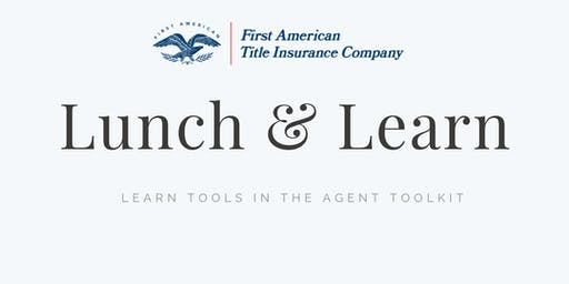 Lunch & Learn with Kelly Siebens from First American Title Insurance