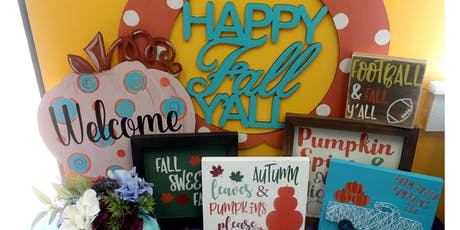 Wooden Sign Design - Fall Decor tickets