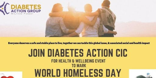 HEALTH AWARENESS & WELLNESS EVENT TO MARK WORLD HOMELESS DAY