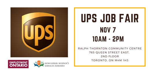 UPS Job Fair - Nov 7 - Toronto, ON