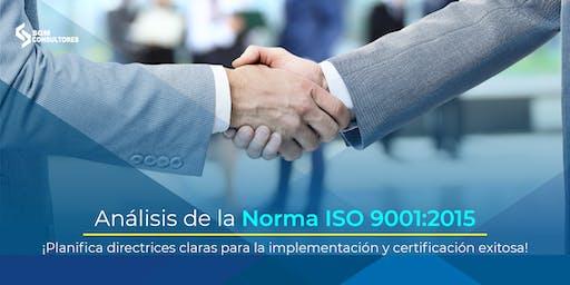 Análisis e Implementación de la Norma ISO 9001:2015 - MTY