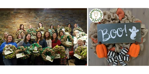 Boo! Burlap Wine & Wreaths at Flipdaddy's Newport