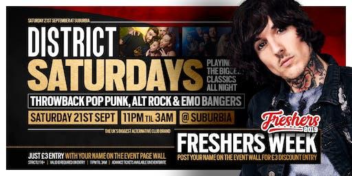 DISTRICT Southampton // Throwback Alt Anthems // Saturday at Suburbia