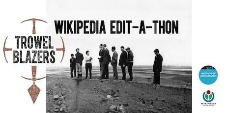 TrowelBlazers Wikimedia Edit-a-thon tickets