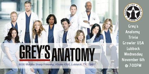 Grey's Anatomy Trivia at Growler USA Lubbock