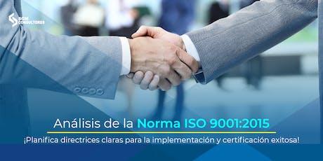 Análisis e Implementación de la Norma ISO 9001:2015 - CDMX entradas