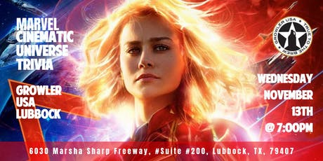 Marvel Cinematic Universe Trivia at Growler USA Lubbock tickets