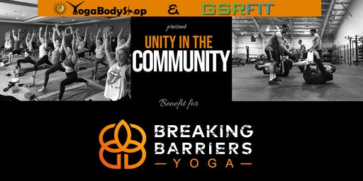 Breaking Barriers Yoga Fundraising Event with Yoga Body Shop and GSR Fit