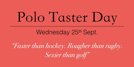 University of Portsmouth Polo Club Taster Day tickets