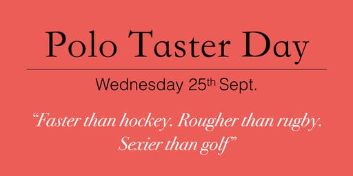 University of Portsmouth Polo Club Taster Day