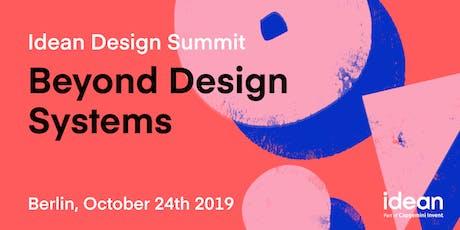 Idean Design Summit: Beyond Design Systems tickets