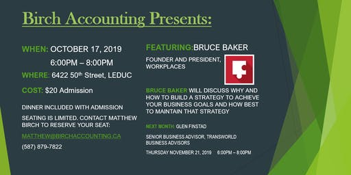 Birch Accounting Speaker Series - Bruce Baker