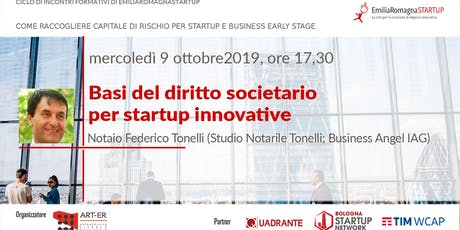 Raising Capital for your Business Chap II: Basi del diritto societario per startup innovative biglietti