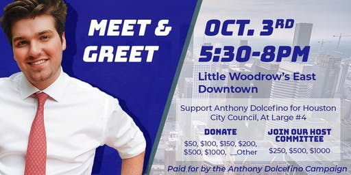Meet & Greet With Anthony Dolcefino For  At-Large #4