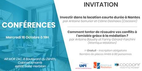 Conférences UNPI 44 - Cocoonr - Atlantique Mediation billets
