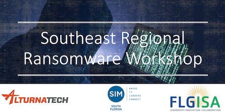 Southeast Regional Ransomware Workshop tickets