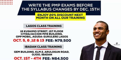 Project Management Professional (PMP) Certification Training- Ibadan tickets