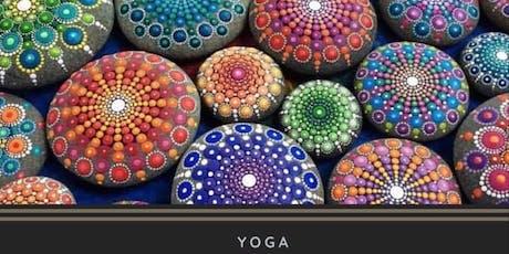 Self Indulge Sunday Yoga, Mandala Stone Painting, Coffee tickets