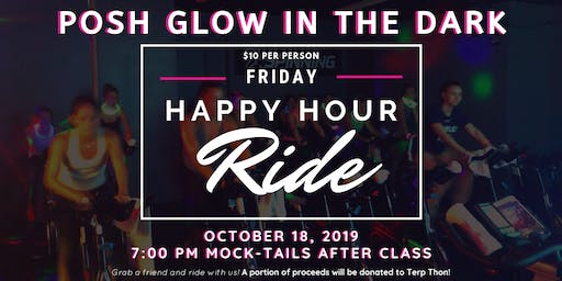 Posh Glow in the Dark Happy Hour Ride for Terp Thon