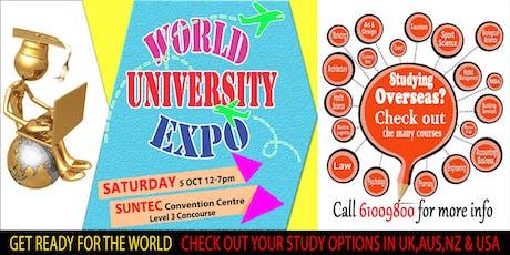 World Uni Expo @ Suntec Sat 5 Oct Level 3 Concourse tickets