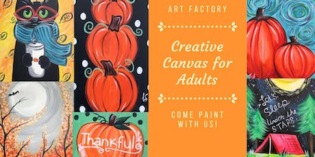 Creative Canvas for Adults - Select Your Own! tickets