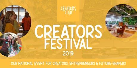 Creators Festival 2019   For Creators, Entrepreneurs & Future-Shapers tickets