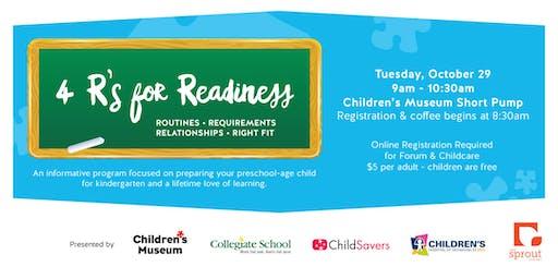 4 R's for Readiness: Preparing Preschool-Age Children for Kindergarten