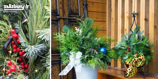 Festive Holiday Planter