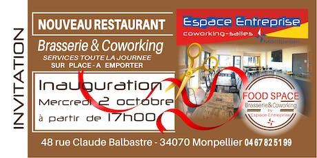 INVITATION INAUGURATION du resto Food Space d'Espace Entreprise billets