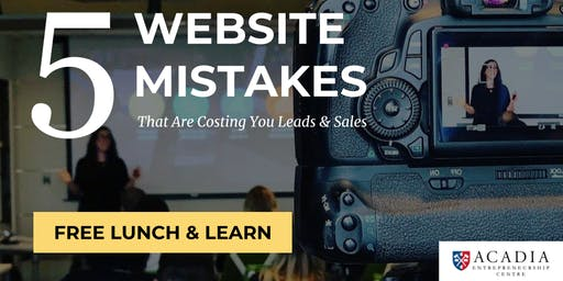 5 Website Mistakes