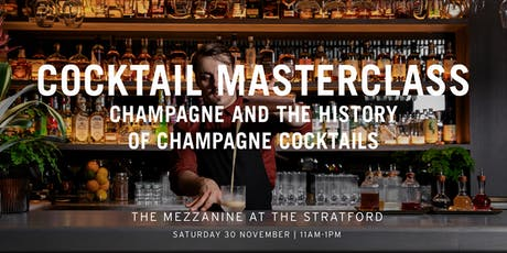 The Mezzanine Cocktail Masterclass with Enrico Gonzato: Champagne tickets