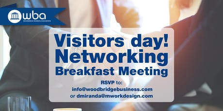 Woodbridge Business Association Networking - Visitors Day! tickets