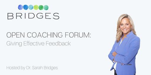 FREE- Open Coaching Forum