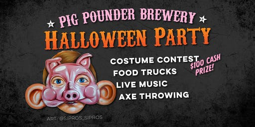 Halloween Party at Pig Pounder Brewery