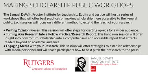 Making Scholarship Public Workshop Series