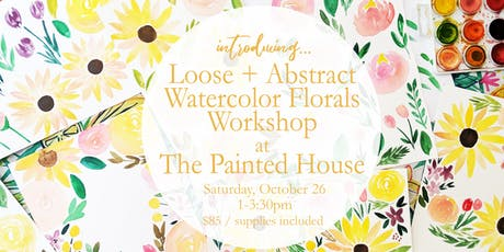 Loose Abstract Watercolor Florals Workshop tickets