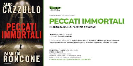 """Eliseo Cultura: presentazione libro """"Peccati immortali"""" biglietti"""