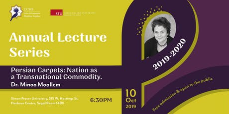 Dr. Minoo Moallem.  Persian Carpets:  Nation as a Transnational Commodity tickets