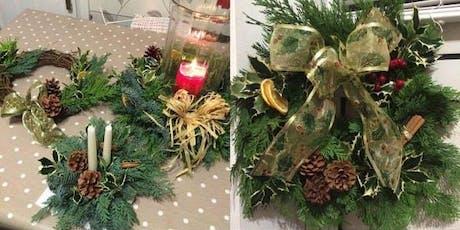 Christmas Wreath making Workshop 7th Dec tickets
