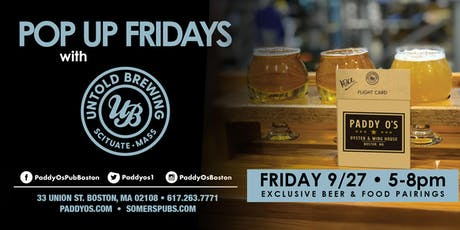 Pop Up Fridays with Untold Brewing tickets