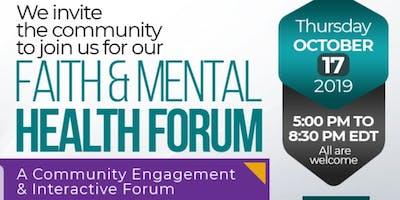 My Faith  My Mental Health Forum