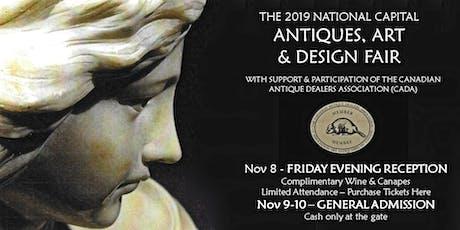 2019 National Capital Antiques, Art & Design Fair - Friday Night Reception tickets