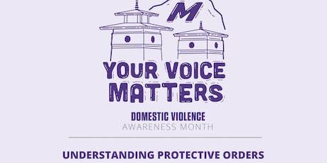 Understanding Protective Orders tickets