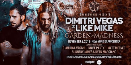 Tomorrowland Presents: Dimitri Vegas & Like Mike - Garden of Madness tickets
