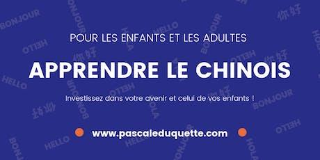 Cours de CHINOIS DÉBUTANT tickets