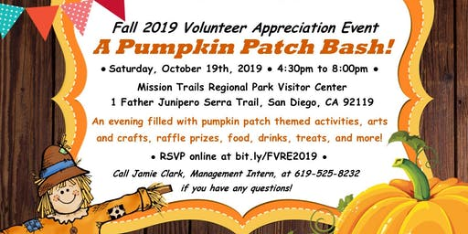 "Fall 2019 Volunteer Recognition Event - ""A Pumpkin Patch Bash!"""