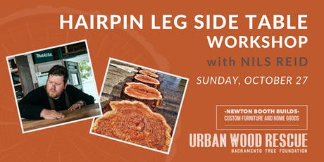 DIY Hairpin Leg Side Table Workshop with Newton Booth Builds tickets