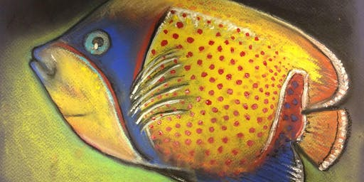 Teens n tweens pastel drawing class Tropical Fish